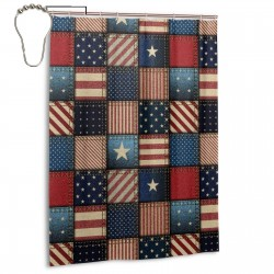 American Flag Shower Curtain , Shower Bathroom Curtain 55x72 Inch Waterproof Fabric with Hooks , Wildly used in bathroom and hotel etc.