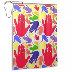 Colorful Palms Pattern Shower Curtain , Shower Bathroom Curtain 55x72 Inch Waterproof Fabric with Hooks , Wildly used in bathroom and hotel etc.