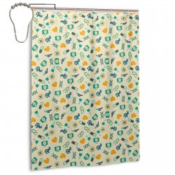Colorful Medicine Pattern Shower Curtain , Shower Bathroom Curtain 55x72 Inch Waterproof Fabric with Hooks , Wildly used in bathroom and hotel etc.