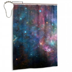 Colorful Galaxy Shower Curtain , Shower Bathroom Curtain 55x72 Inch Waterproof Fabric with Hooks , Wildly used in bathroom and hotel etc.