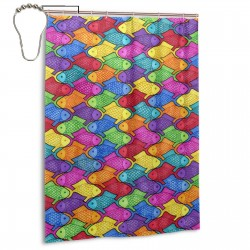 Colorful Fish Shower Curtain , Shower Bathroom Curtain 55x72 Inch Waterproof Fabric with Hooks , Wildly used in bathroom and hotel etc.