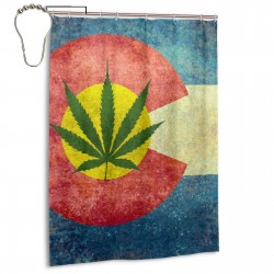 ColoradoMarijuana Shower Curtain , Shower Bathroom Curtain 55x72 Inch Waterproof Fabric with Hooks , Wildly used in bathroom and hotel etc.