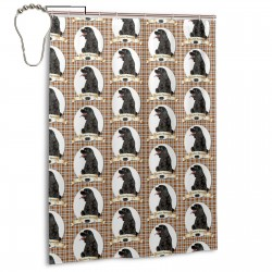 Cocker Spaniel Dog Pattern Shower Curtain , Shower Bathroom Curtain 55x72 Inch Waterproof Fabric with Hooks , Wildly used in bathroom and hotel etc.