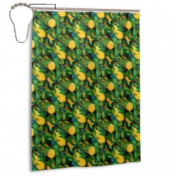 Citrus Fruits Pattern Shower Curtain , Shower Bathroom Curtain 55x72 Inch Waterproof Fabric with Hooks , Wildly used in bathroom and hotel etc.
