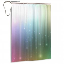 Rainbow Effect Shower Curtain , Shower Bathroom Curtain 55x72 Inch Waterproof Fabric with Hooks , Wildly used in bathroom and hotel etc.