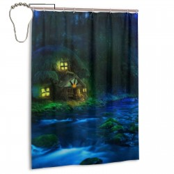Forest Fantasy Shower Curtain , Shower Bathroom Curtain 55x72 Inch Waterproof Fabric with Hooks , Wildly used in bathroom and hotel etc.