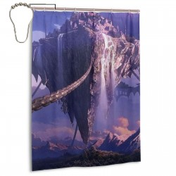 Castle Shower Curtain , Shower Bathroom Curtain 55x72 Inch Waterproof Fabric with Hooks , Wildly used in bathroom and hotel etc.