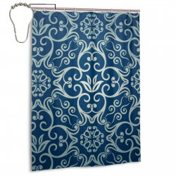 Blue Totem Shower Curtain , Shower Bathroom Curtain 55x72 Inch Waterproof Fabric with Hooks , Wildly used in bathroom and hotel etc.