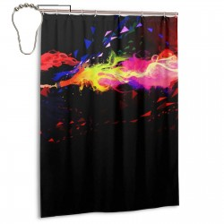 Abstract Art Shower Curtain , Shower Bathroom Curtain 55x72 Inch Waterproof Fabric with Hooks , Wildly used in bathroom and hotel etc.