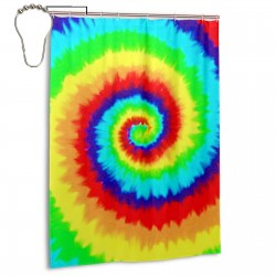 Tie Dye (2) Shower Curtain , Shower Bathroom Curtain 55x72 Inch Waterproof Fabric with Hooks , Wildly used in bathroom and hotel etc.