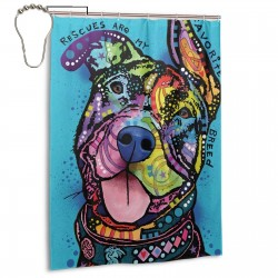 Rescues Are My Favorite Breed Shower Curtain , Shower Bathroom Curtain 55x72 Inch Waterproof Fabric with Hooks , Wildly used in bathroom and hotel etc.