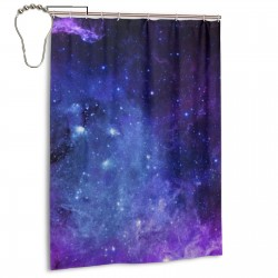 Purple And Blue Galaxy Shower Curtain , Shower Bathroom Curtain 55x72 Inch Waterproof Fabric with Hooks , Wildly used in bathroom and hotel etc.