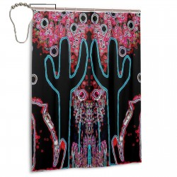 Coyotes On A Frosty Winter's Night Shower Curtain , Shower Bathroom Curtain 55x72 Inch Waterproof Fabric with Hooks , Wildly used in bathroom and hotel etc.