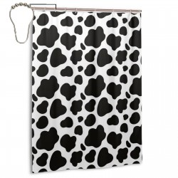Cow Spots Shower Curtain , Shower Bathroom Curtain 55x72 Inch Waterproof Fabric with Hooks , Wildly used in bathroom and hotel etc.