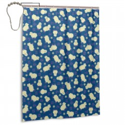 Counting Sheep 1 Shower Curtain , Shower Bathroom Curtain 55x72 Inch Waterproof Fabric with Hooks , Wildly used in bathroom and hotel etc.