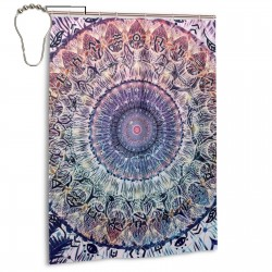 Cosmic Mandala Art Shower Curtain , Shower Bathroom Curtain 55x72 Inch Waterproof Fabric with Hooks , Wildly used in bathroom and hotel etc.