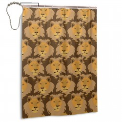 Cool Lion King Shower Curtain , Shower Bathroom Curtain 55x72 Inch Waterproof Fabric with Hooks , Wildly used in bathroom and hotel etc.