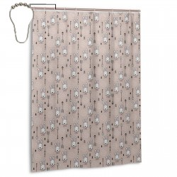 Cool Hipster White Bunny And Geometric Arrows Shower Curtain , Shower Bathroom Curtain 55x72 Inch Waterproof Fabric with Hooks , Wildly used in bathroom and hotel etc.