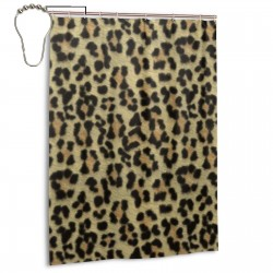 Cool Leopard Shower Curtain , Shower Bathroom Curtain 55x72 Inch Waterproof Fabric with Hooks , Wildly used in bathroom and hotel etc.