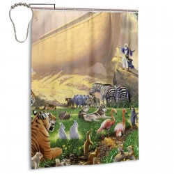 Con Mujer De Jesus Shower Curtain , Shower Bathroom Curtain 55x72 Inch Waterproof Fabric with Hooks , Wildly used in bathroom and hotel etc.