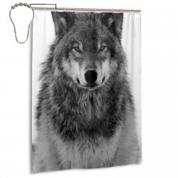 Colorful Wolf Animal Shower Curtain , Shower Bathroom Curtain 55x72 Inch Waterproof Fabric with Hooks , Wildly used in bathroom and hotel etc.