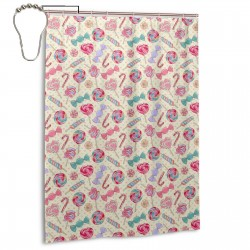 Colorful Sweet Lollipop Candy Cane Shower Curtain , Shower Bathroom Curtain 55x72 Inch Waterproof Fabric with Hooks , Wildly used in bathroom and hotel etc.