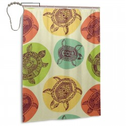 Colorful Sea Turtle Shower Curtain , Shower Bathroom Curtain 55x72 Inch Waterproof Fabric with Hooks , Wildly used in bathroom and hotel etc.