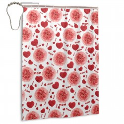 Mother's Love Flower Shower Curtain , Shower Bathroom Curtain 55x72 Inch Waterproof Fabric with Hooks , Wildly used in bathroom and hotel etc.