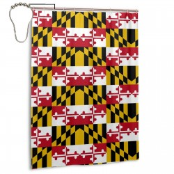 Maryland Flag Crab01 Shower Curtain , Shower Bathroom Curtain 55x72 Inch Waterproof Fabric with Hooks , Wildly used in bathroom and hotel etc.
