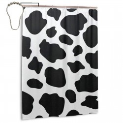 Cow Shower Curtain , Shower Bathroom Curtain 55x72 Inch Waterproof Fabric with Hooks , Wildly used in bathroom and hotel etc.