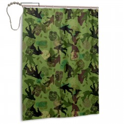 Bigfoot Camo Shower Curtain , Shower Bathroom Curtain 55x72 Inch Waterproof Fabric with Hooks , Wildly used in bathroom and hotel etc.