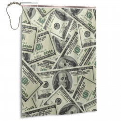 100 Dollar Money Shower Curtain , Shower Bathroom Curtain 55x72 Inch Waterproof Fabric with Hooks , Wildly used in bathroom and hotel etc.