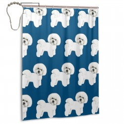 Cute Dog Shower Curtain , Shower Bathroom Curtain 55x72 Inch Waterproof Fabric with Hooks , Wildly used in bathroom and hotel etc.