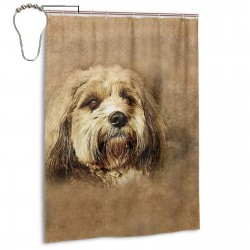 Cute Dog (2) Shower Curtain , Shower Bathroom Curtain 55x72 Inch Waterproof Fabric with Hooks , Wildly used in bathroom and hotel etc.