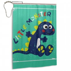 Cute Dinosaur Monster Shower Curtain , Shower Bathroom Curtain 55x72 Inch Waterproof Fabric with Hooks , Wildly used in bathroom and hotel etc.