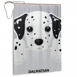 Cute Dalmatian Dog Pattern Shower Curtain , Shower Bathroom Curtain 55x72 Inch Waterproof Fabric with Hooks , Wildly used in bathroom and hotel etc.