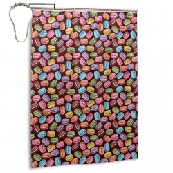 Cute Colorful Macaroons Cookies Shower Curtain , Shower Bathroom Curtain 55x72 Inch Waterproof Fabric with Hooks , Wildly used in bathroom and hotel etc.