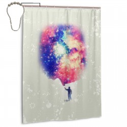 Starry Sky Dream Shower Curtain , Shower Bathroom Curtain 55x72 Inch Waterproof Fabric with Hooks , Wildly used in bathroom and hotel etc.