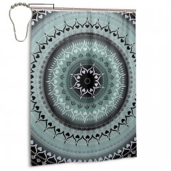 Mandala Shower Curtain , Shower Bathroom Curtain 55x72 Inch Waterproof Fabric with Hooks , Wildly used in bathroom and hotel etc.