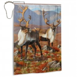 Elk Canyon Shower Curtain , Shower Bathroom Curtain 55x72 Inch Waterproof Fabric with Hooks , Wildly used in bathroom and hotel etc.