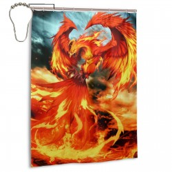 Phoenix Bird Shower Curtain , Shower Bathroom Curtain 55x72 Inch Waterproof Fabric with Hooks , Wildly used in bathroom and hotel etc.