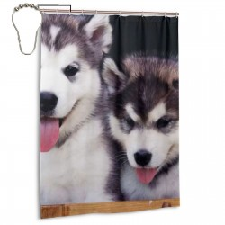 Husky Brothers Shower Curtain , Shower Bathroom Curtain 55x72 Inch Waterproof Fabric with Hooks , Wildly used in bathroom and hotel etc.