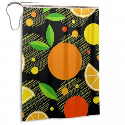 Fruits Oranges Shower Curtain , Shower Bathroom Curtain 55x72 Inch Waterproof Fabric with Hooks , Wildly used in bathroom and hotel etc.