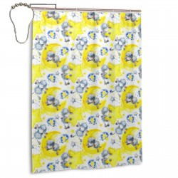 Cute Sheep Star Shower Curtain , Shower Bathroom Curtain 55x72 Inch Waterproof Fabric with Hooks , Wildly used in bathroom and hotel etc.
