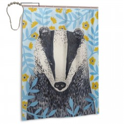 Cute Raccoon Shower Curtain , Shower Bathroom Curtain 55x72 Inch Waterproof Fabric with Hooks , Wildly used in bathroom and hotel etc.
