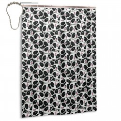 Cute Panda Pattern Shower Curtain , Shower Bathroom Curtain 55x72 Inch Waterproof Fabric with Hooks , Wildly used in bathroom and hotel etc.